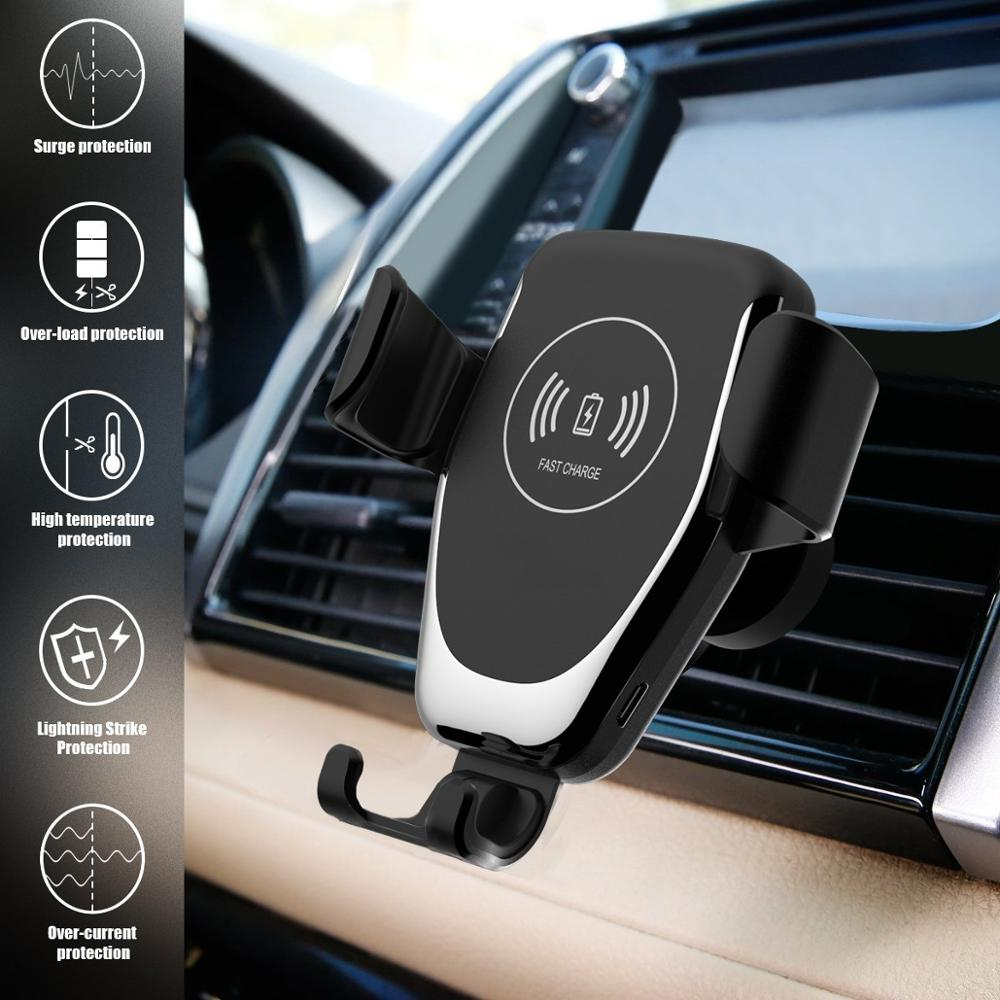 Automatic Gravity Qi Wireless Phone Car Charger Mount