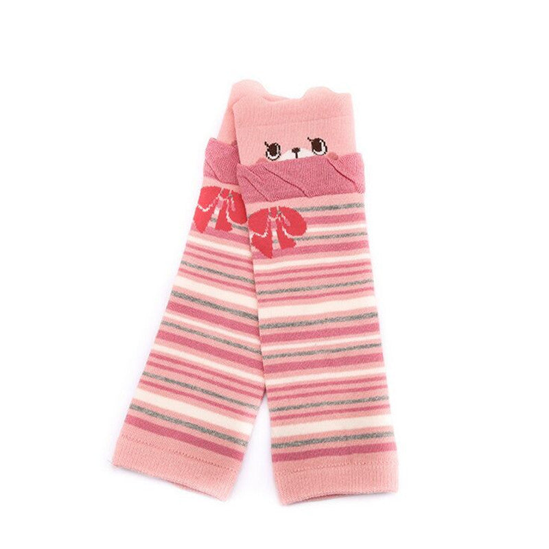 Striped Cotton New Born Knee Pad