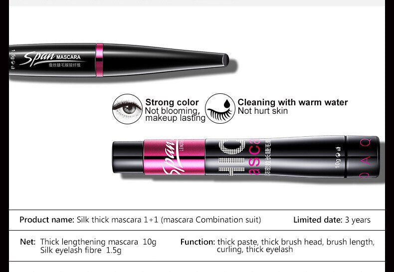 2In1 3D Fiber Eyelashes Lengthening Mascara