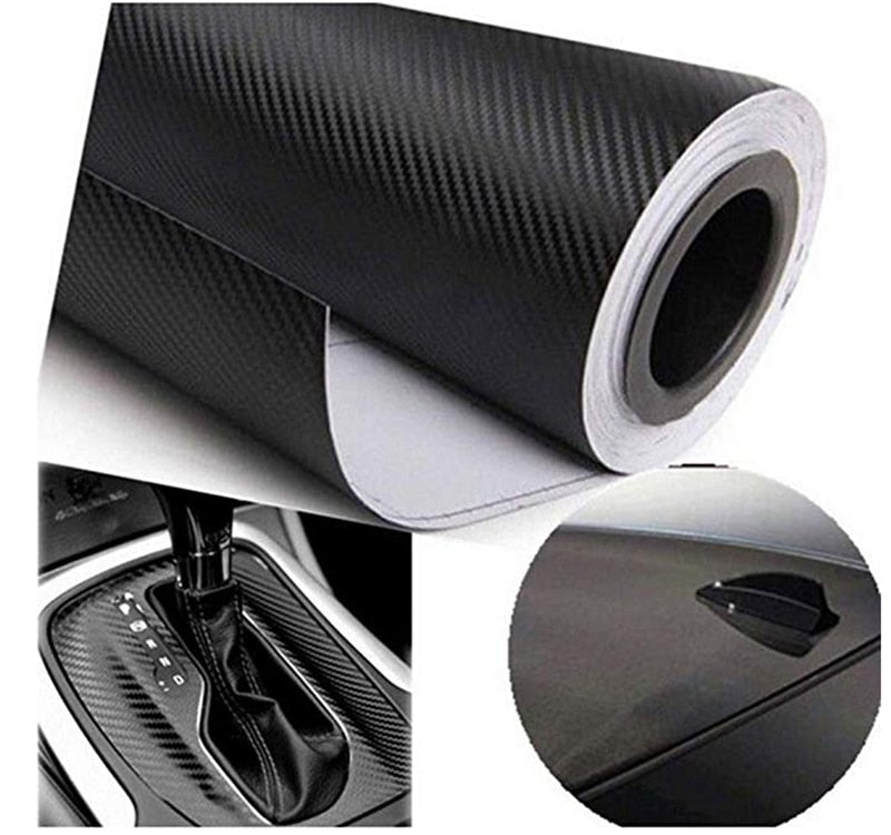 127 x 30cm Waterproof Carbon Fiber Wrap Roll Car Sticker Sheet Decorative Practical Car Stickers