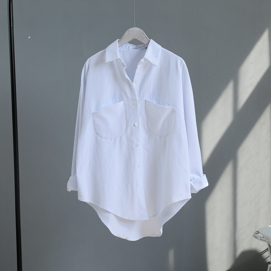 Vintage Korean Style Long Sleeve Women's Blouse