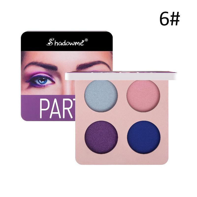 Long-Lasting Pressed Shimmer Matte Eyeshadow Palette
