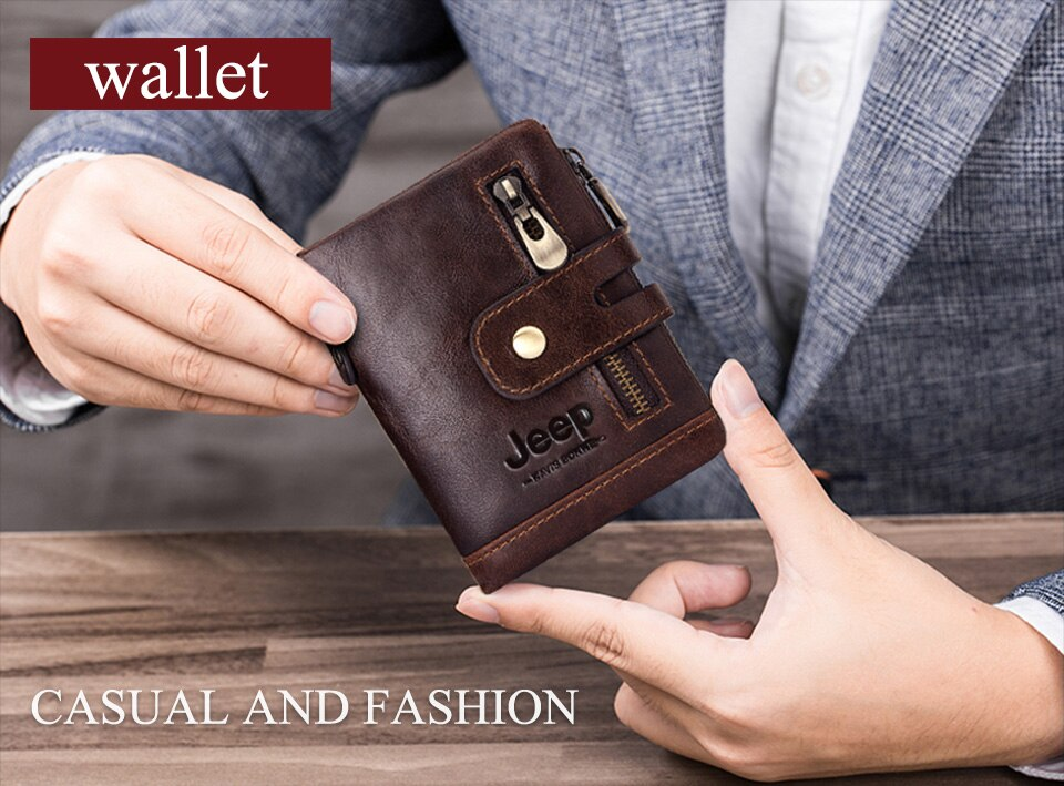 Mini Genuine Leather Men Wallet Mit Free Name Engraving