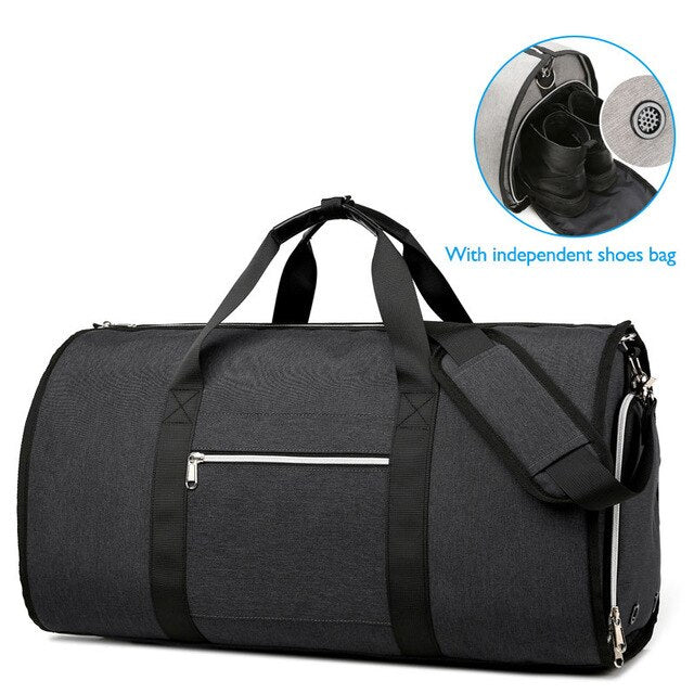 Waterproof Large Capacity Men Travel Bags With Shoe Pouch