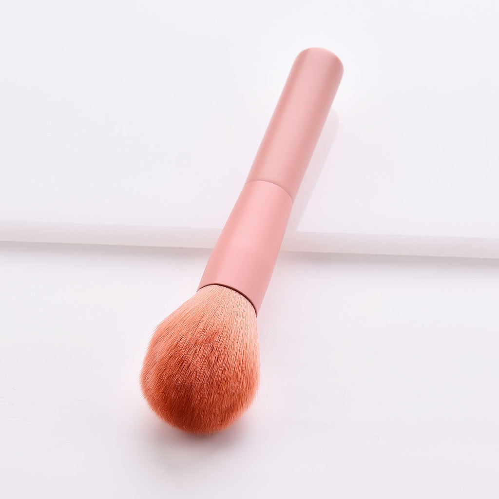 10Pcs Wooden Foundation Makeup Brush Sets