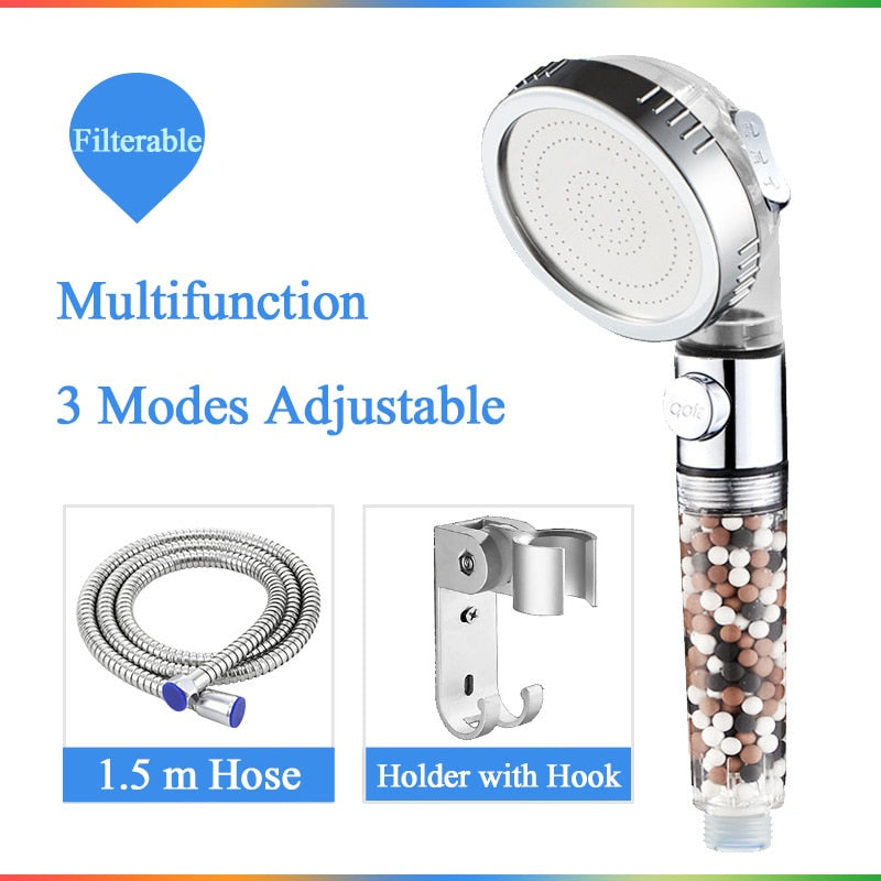 Adjustable Replacement Filter Balls Shower Head