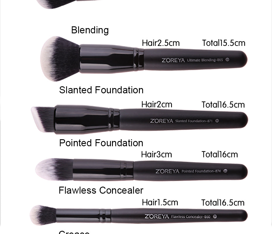 15Pcs Black Makeup Cosmetic Brushes Set