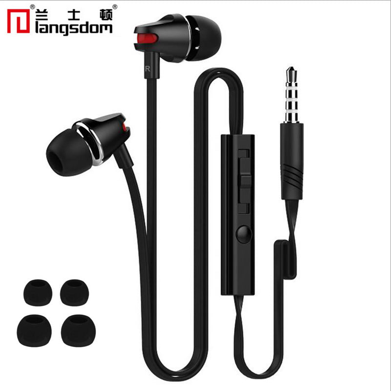 Langsdom JV23 Earphone With Microphone for iPhone Samsung Galaxy Xiaomi Redmi 4