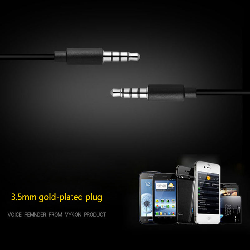 3.5mm Turbo Metal Earbuds Stereo Earphones With Microphone For iphone Samsung xiaomi