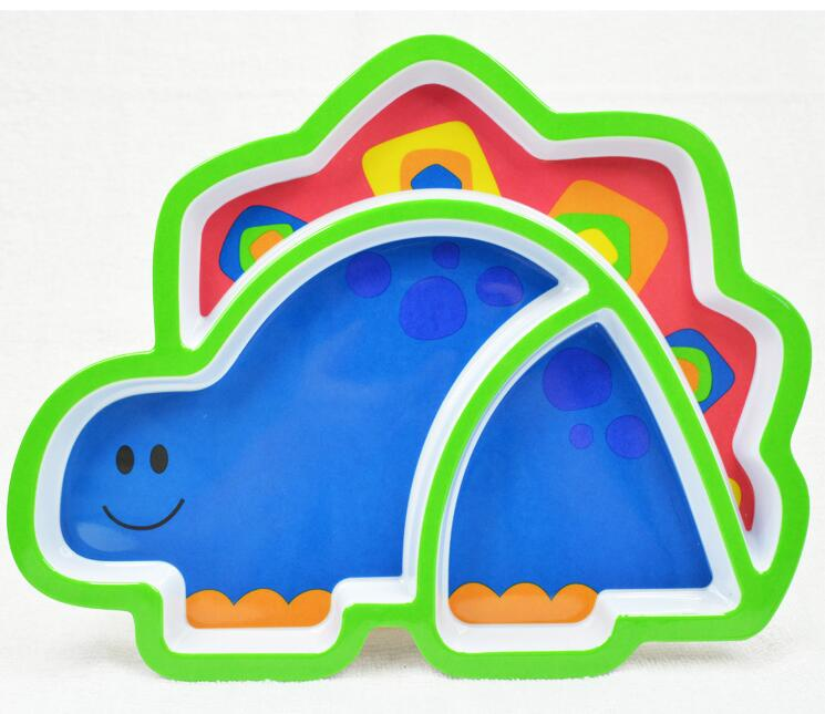 Sozzy Creative Children's Sub-Grid Eat Tray Plate Cartoon Animal