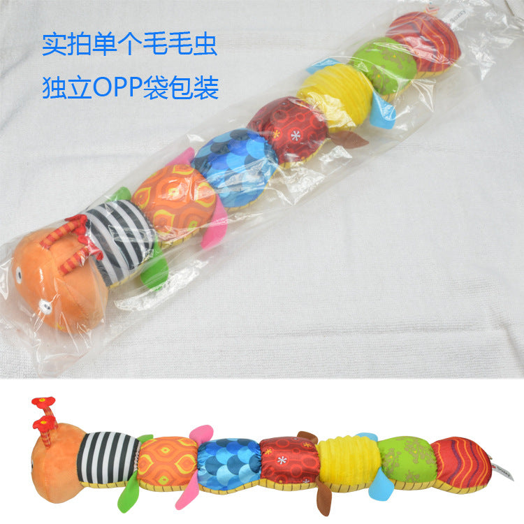 Baby Toy Musical Caterpillar Rattle with Ring Bell