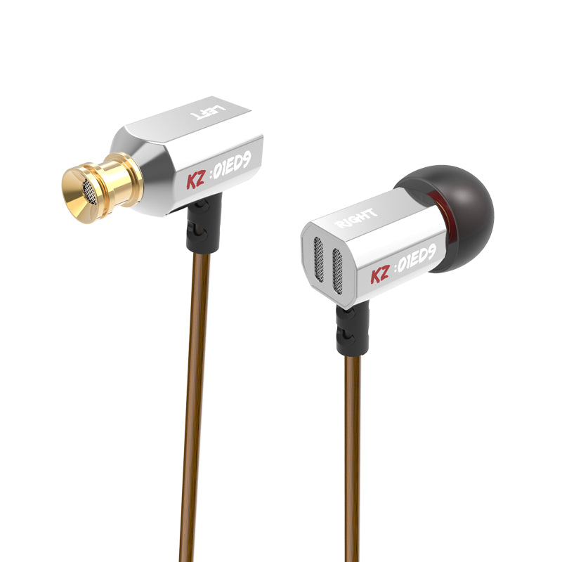 Original KZ ED9 Super Bass In-Ear Music Earphone With DJ Earphones HIFI Stereo Earbuds Noise Isolating With Mic