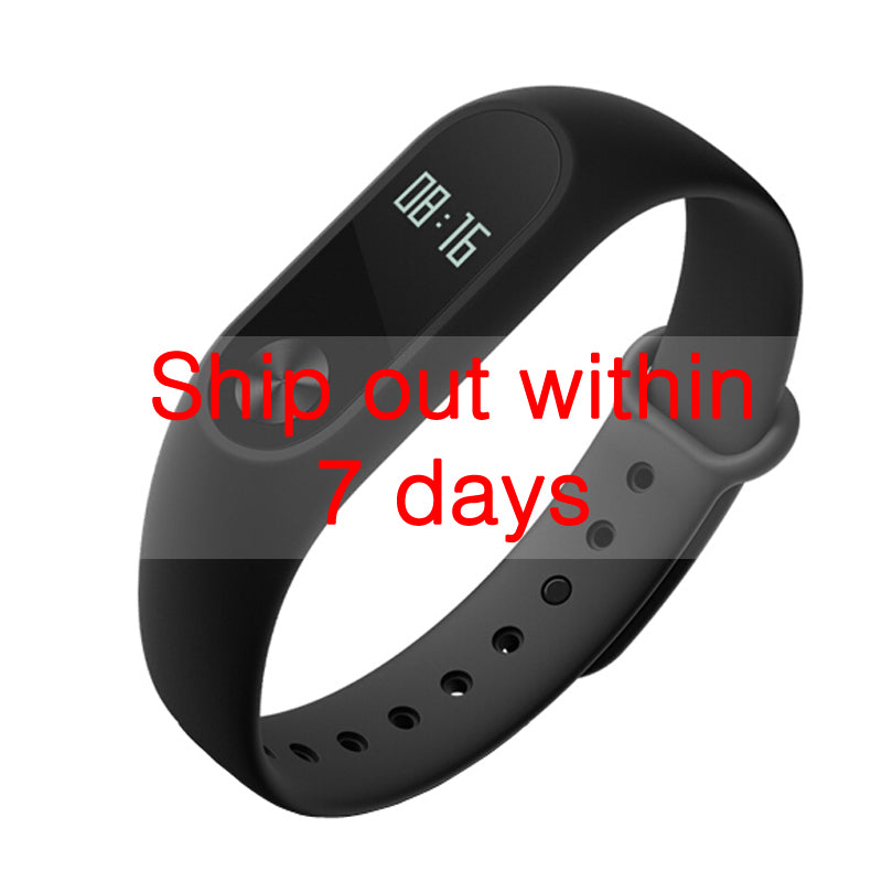 Original Xiaomi MiBand 2 Wristband Bracelet Smart Heart Rate Fitness Tracker OLED Display for Android/iOS Phone