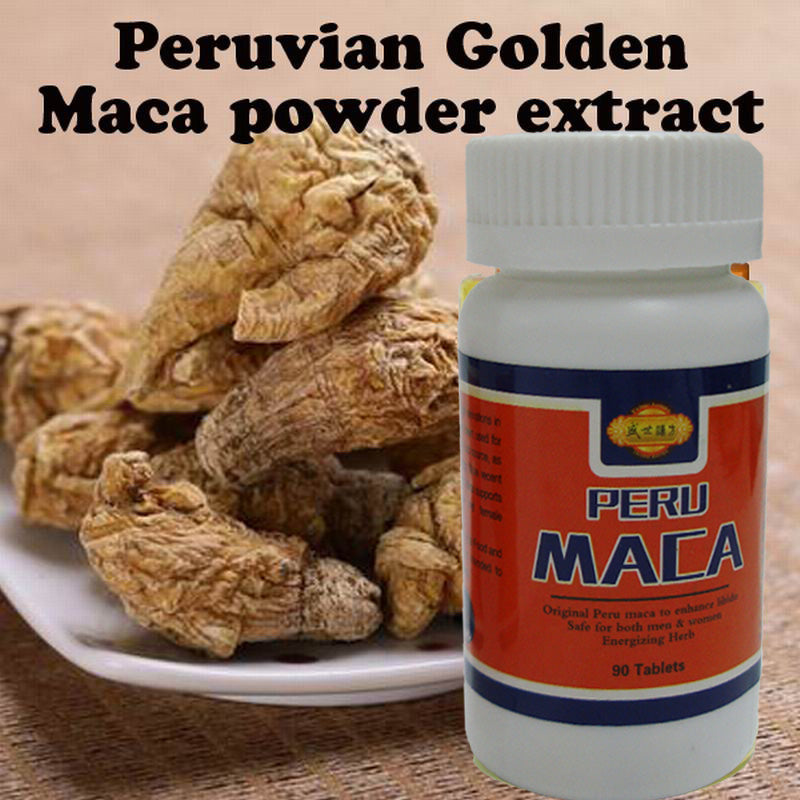 90 tablets/Bottle Peruvian Golden 100% Organic Maca Powder Extract