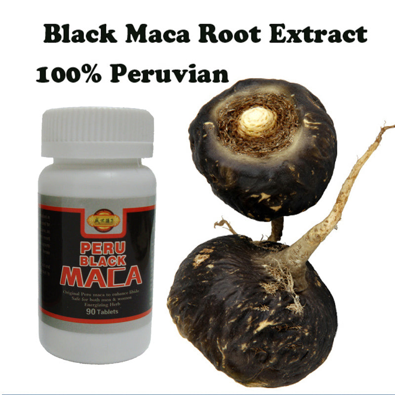 Black Maca powder extracts 100% Pure Lepidium Meyenii Male Health Supplement