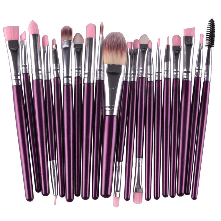 20pcs/Set Eye Shadow Foundation Eyeliner Eyebrow Makeup Lip Brushes