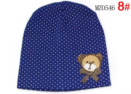 Crochet Cute Bear & Bow Baby Hats Beanie Polka Dot Hat 10 Colors