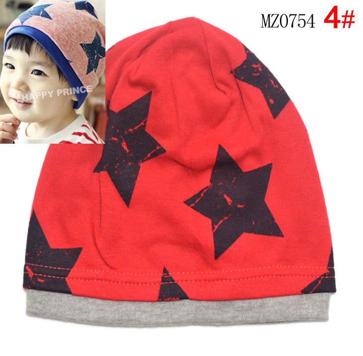 Big Five Star Cotton Beanie Hats Skull Cap For 1-4 Years Toddler