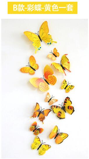 PVC Butterfly Decals 3D Wall Stickers Home Decor Poster