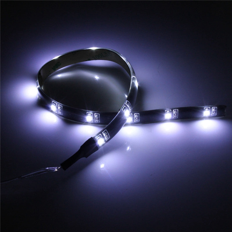 Waterproof Flexible Strip Tape Light Car Auto Decor Lamp Battery Operated