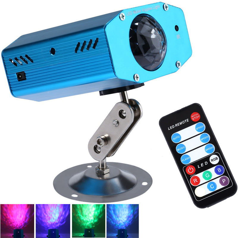 Remote 3W RGB LED Water Wave Ripple Effect Stage Laser Light
