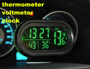 Digital Monitor Electronic Clock Auto Car Thermometer