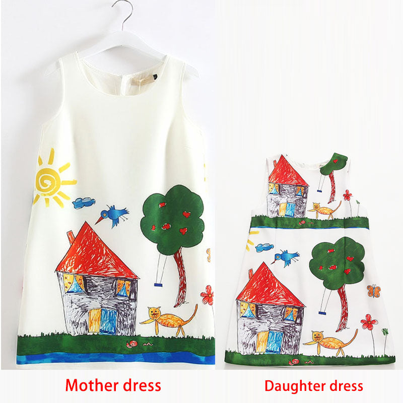 Hot Mother and Daughter Dress Family Matching Clothes