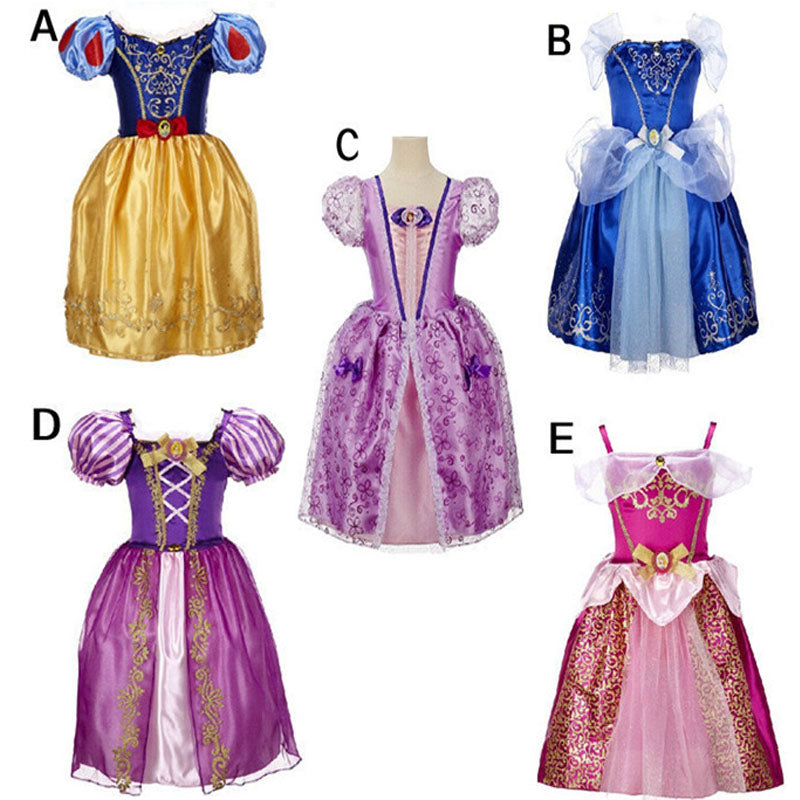 High Quality Lace Princess Dresses Kids Party Costume