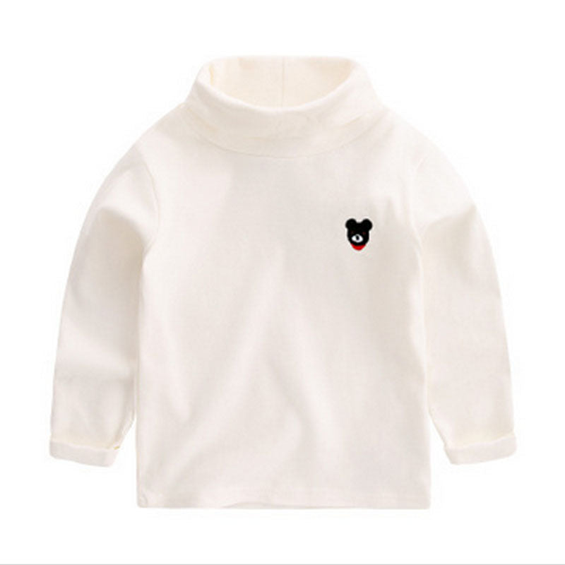 Baby & Kid Boy Basic Solid T-shirt Cotton Long-sleeve Turtleneck 7 Colors
