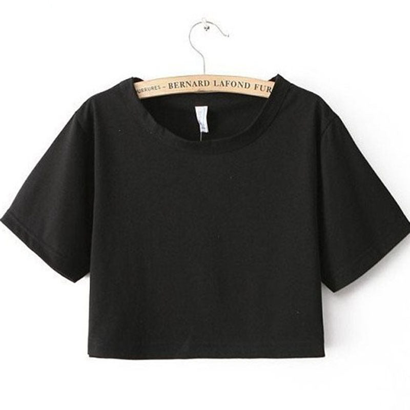 Harajuku Style Casual Fitness Crop Top