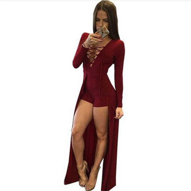 Sexy Design Bodycon Long Sleeves Elegant Jumpsuit