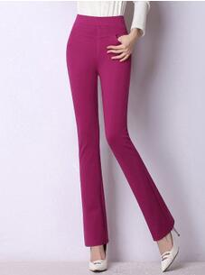 High Quality Women Classical Business Suit Wide Leg Stretch Pants