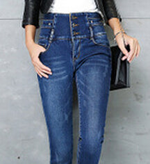 Thick Velvet Stretch High Waist Pencil Skinny Pants