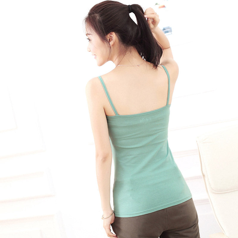 Tank Top Women Vest Cotton Shirt