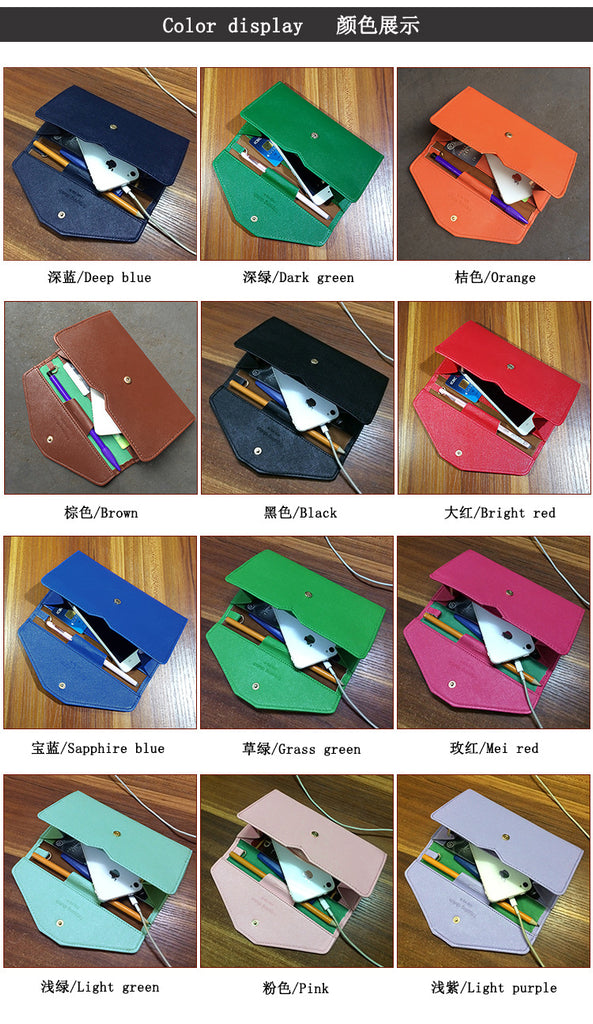 Vintage Women Clutch Hasp PU Leather Long Phone Wallet