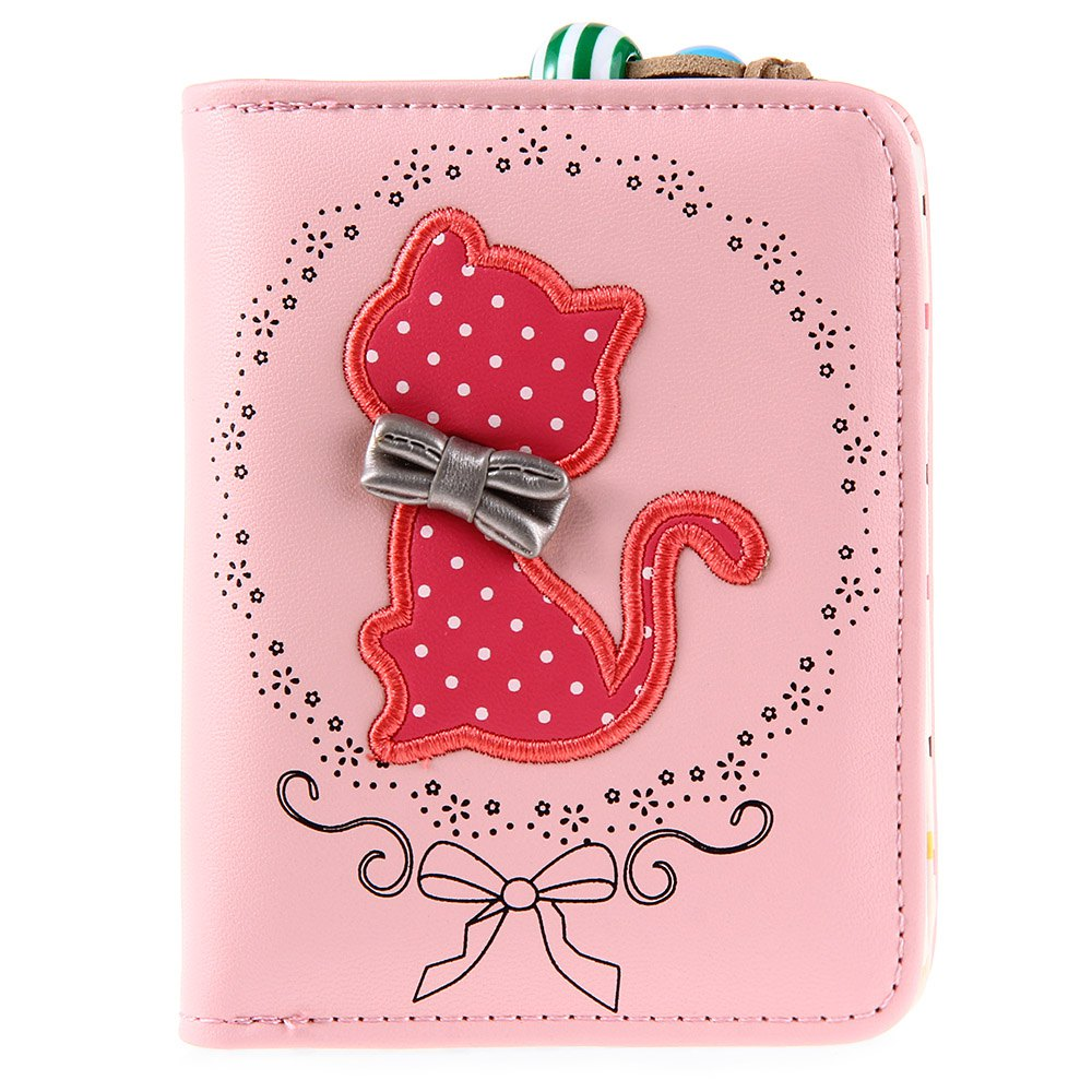 Cute Ladies Small Short Cat Wallet