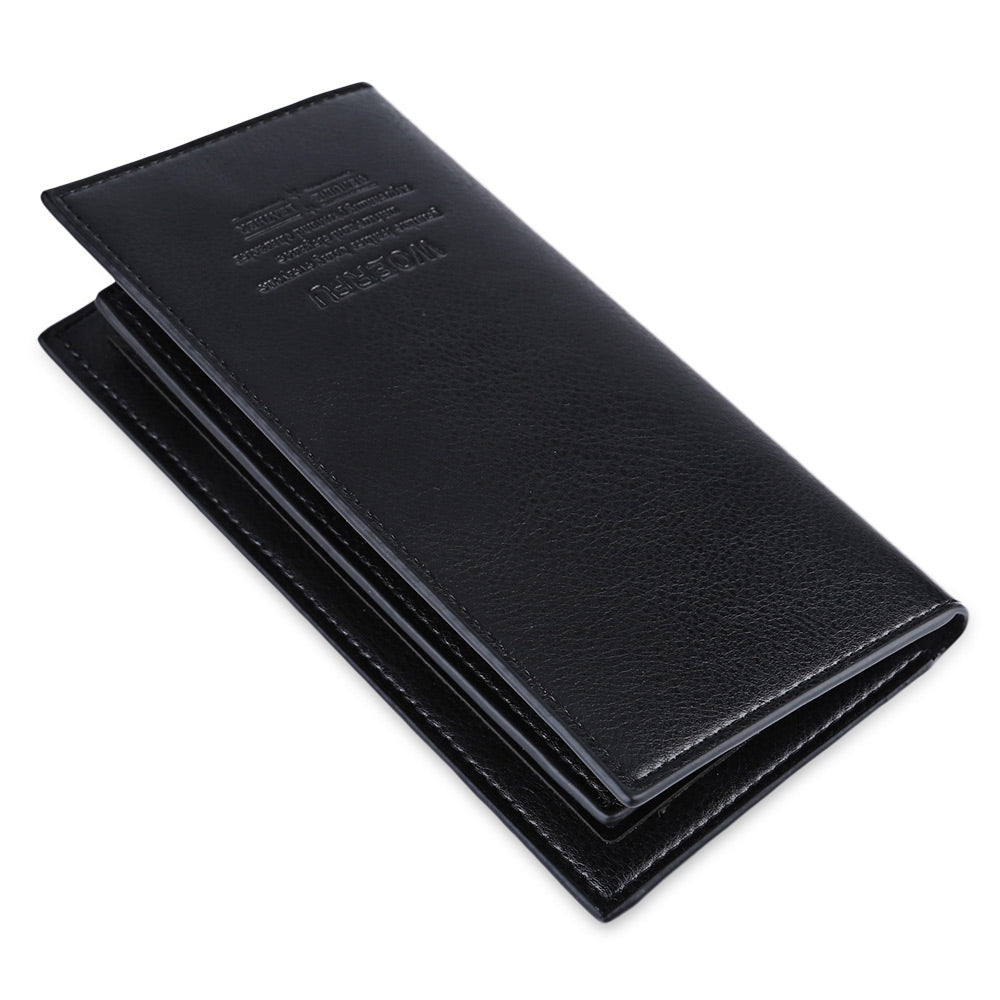 Casual Lichee Pattern Letter Print Open Soft Vertical Long Wallet