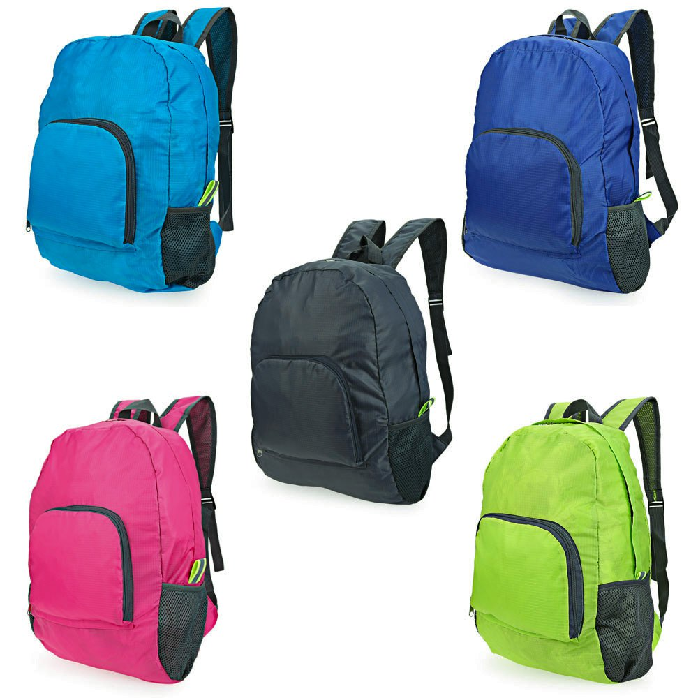 Foldable Light Zipper Solid Backpack