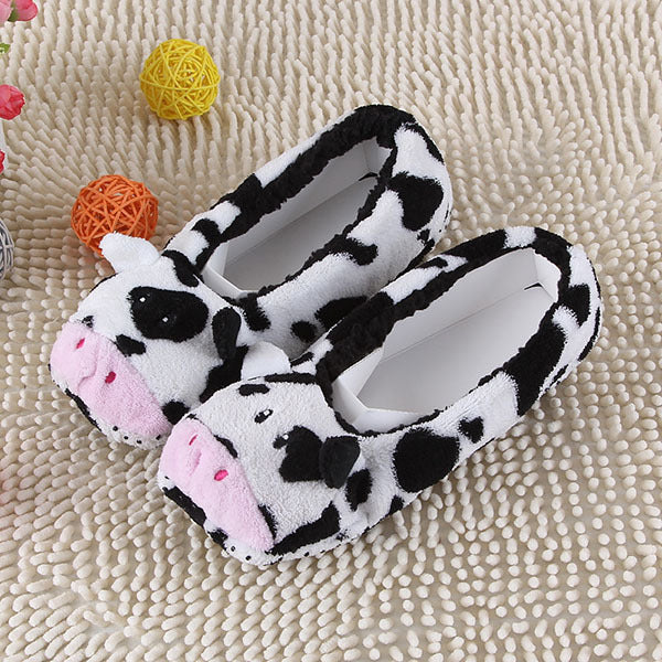 Warm Flats Soft Sole Animal Shape Indoor Floor Slippers