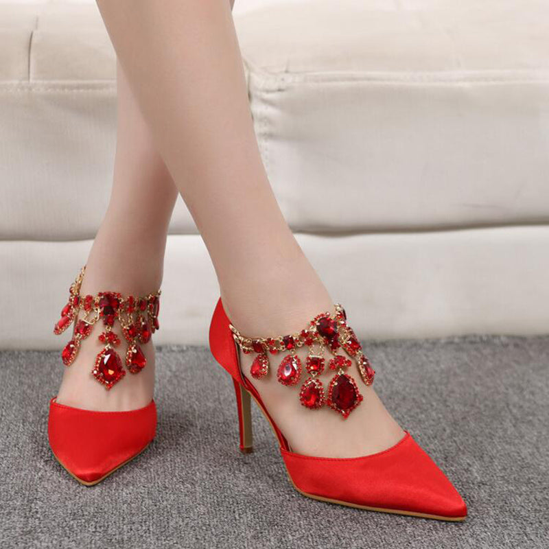 Hot Sexy Pointed Women Pumps Thin High Heels Shoes