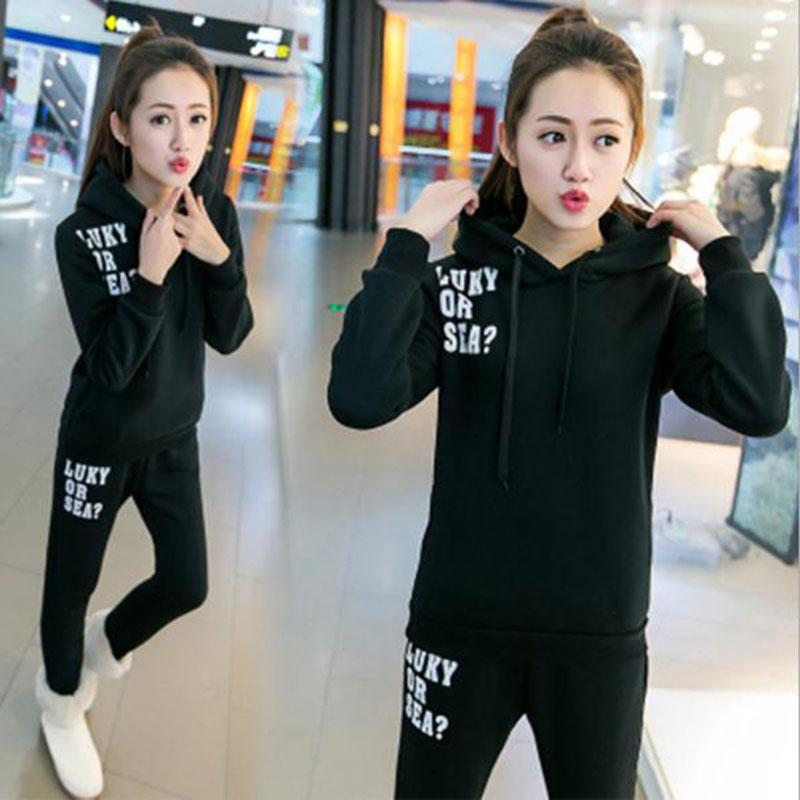 Girls Clothing Sporting Set Long-Sleeved Casual Suit Lady Sportswear