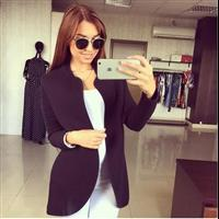 Popular Casual Basic Full Sleeve Open Stitch Jacket