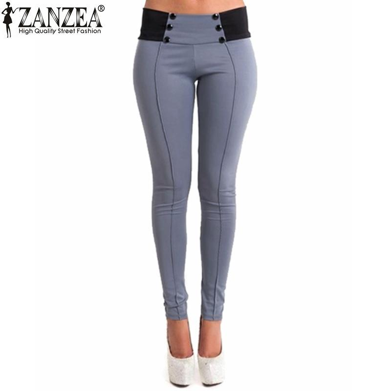 Women Vintage Slim Low Waist Sexy Ladies Skinny Pencil Pants Feet Bodycon Legging Trousers