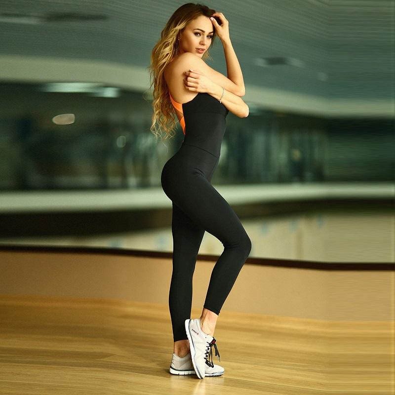 Fitness Jumpsuit & Rompe Rompers Skinny Bodysuit Fashion Bandage Slim Elasticity Combination
