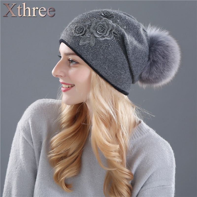 Rabbit wool knitted Hat