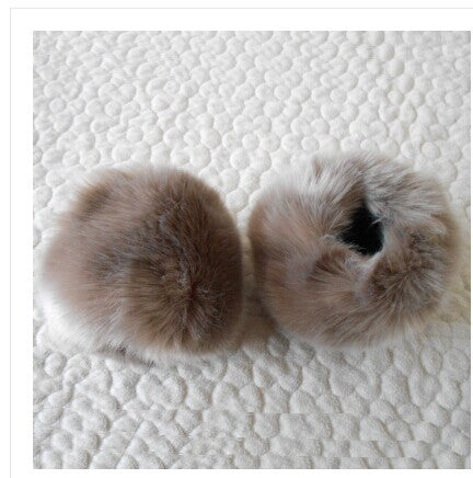 Thickening Fur Sets Of Bracelet Wrist Cuff Imitation Rabbit Hair