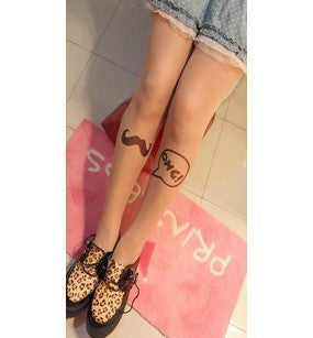 Fake Tattoo Ultra-Thin Transparent Sexy Pantyhose