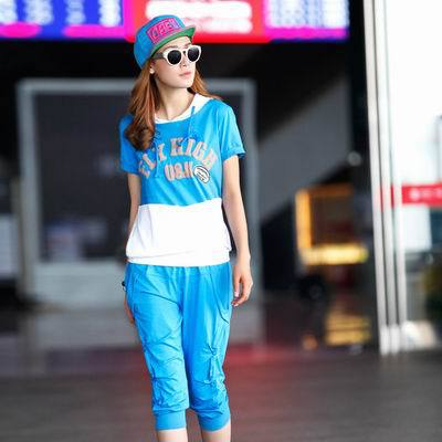 Women Sport Leisure Suit with Hood Fashion