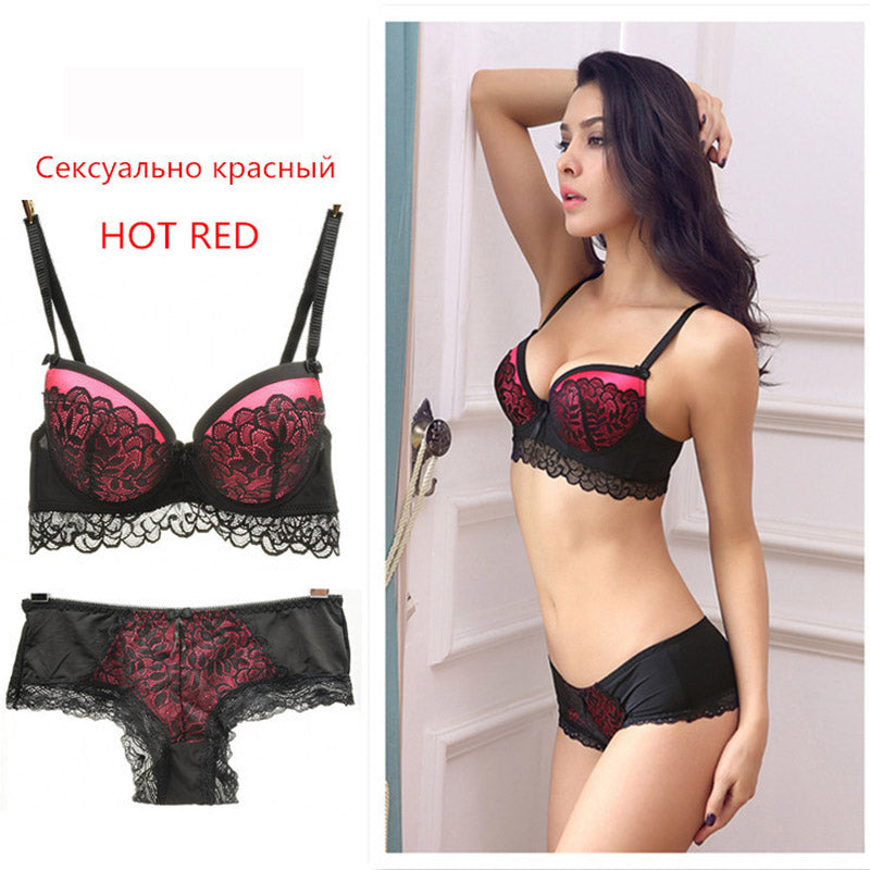 French Elegant Bra Briefs Set