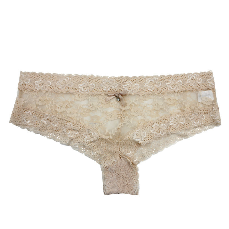Ultra-Thin Lace Transparent Sexy Low-Rise Women Underwear